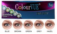 ColourVue Trublends One-Day Rainbow Pack1 - (5 párů barevných čoček) - nedioptrické