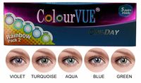 ColourVue Trublends One-Day Rainbow Pack2 - (5 párů barevných čoček) - nedioptrické