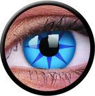 ColourVue Crazy čočky - Blue Star (2 ks roční) - nedioptrické