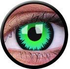 ColourVue Crazy čočky - Green Werewolf (2 ks roční) - nedioptrické