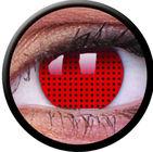 ColourVue Crazy čočky - Red Screen (2 ks roční) - nedioptrické