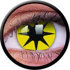 ColourVue CRAZY ČOČKY - Yellow Star (2 ks tříměsíční) - nedioptrické