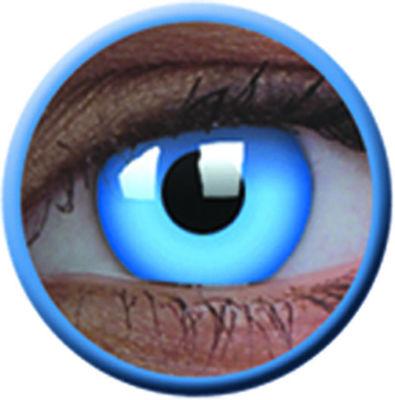 ColourVue Crazy čočky UV svítící - Glow Blue  (2 ks roční) - nedioptrické