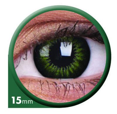 ColourVue Big Eyes - Party Green (2 čočky tříměsíční) - nedioptrické