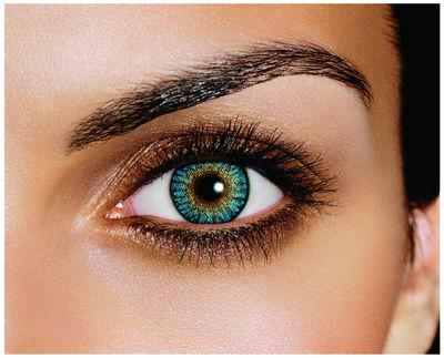 FreshLook ColorBlends - Turquoise (2 čočky měsíční) - nedioptrické