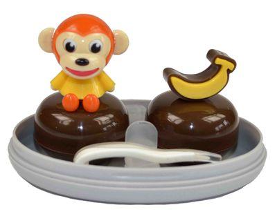 Pouzdro sestava opice - žlutá