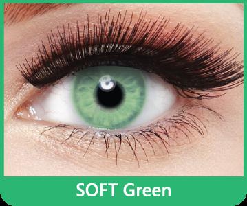 SoftColours - Green (2 měsíční čočky) - nedioptrické