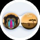 Anti-bakteriální pouzdro klasické - Afrika - Pavián