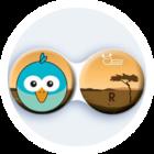 Anti-bakteriální pouzdro klasické - Afrika - Pták modrý
