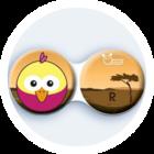 Anti-bakteriální pouzdro klasické - Afrika - Pták růžový