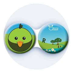 Anti-bakteriální pouzdro klasické - Farma - Pták zelený