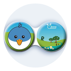 Anti-bakteriální pouzdro klasické - Farma - Pták modrý