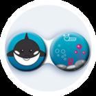 Anti-bakteriální pouzdro klasické - Moře - Kosatka