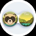 Anti-bakteriální pouzdro klasické - ZOO - Medvěd