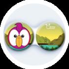 Anti-bakteriální pouzdro klasické - ZOO - Papoušek růžový