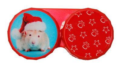 Klasické pouzdro motiv Vánoce - Křeček s čepicí