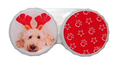 Klasické pouzdro motiv Vánoce - Pes s parohy
