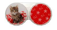 Klasické pouzdro motiv Vánoce - Kotě na míčích