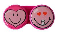Klasické pouzdro motiv Smiley - Srdce
