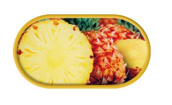 Pouzdro se zrcátkem motiv Ovoce - Ananas