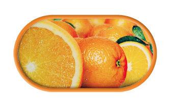 Pouzdro se zrcátkem motiv Ovoce - Pomeranč
