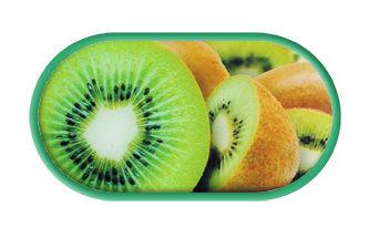Pouzdro se zrcátkem motiv Ovoce - Kiwi
