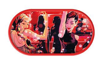 Pouzdro se zrcátkem kreslené motivy - Disco Divas