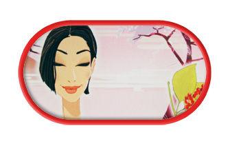 Pouzdro se zrcátkem kreslené motivy - Oriental Calm
