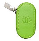 Kožené pouzdro se zrcátkem - Světle zelené
