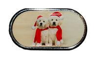 Pouzdro se zrcátkem Vánoční motiv - Dvě štěňata
