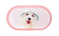 Pouzdro se zrcátkem motiv kočky a psi - Pes v klobouku