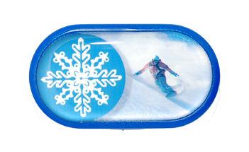 Pouzdro se zrcátkem motiv Sport - Snowboard