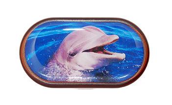 Pouzdro se zrcátkem Divoká zvířata - Delfín