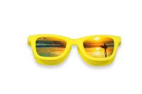 Pouzdro OptiShades - brýle žluté - pláž