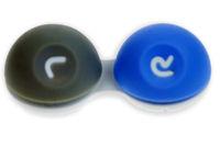 3D pouzdro - pogumované modro-šedé