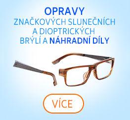 servis značkových slunečních i dioptrických brýlí