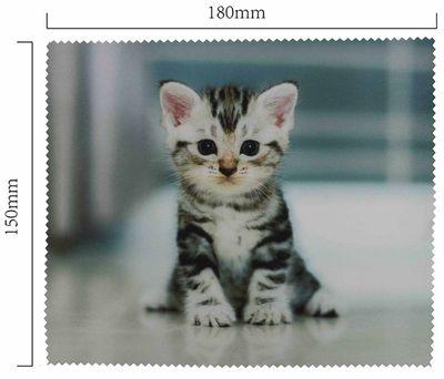 Hadřík na brýle z mikrovlákna- motiv kotě sedící