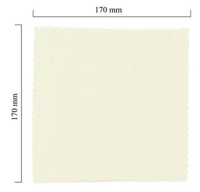 Hadřík na brýle z mikrovlákna jednobarevný - bílý 170x170 mm