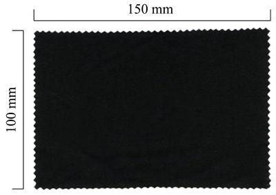 Hadřík na brýle z mikrovlákna jednobarevný - černý 100x150