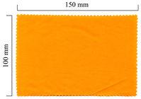 Hadřík na brýle z mikrovlákna jednobarevný - oranžový 100x150