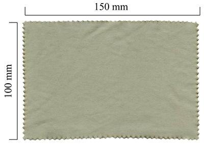 Hadřík na brýle z mikrovlákna jednobarevný - šedý 100x150