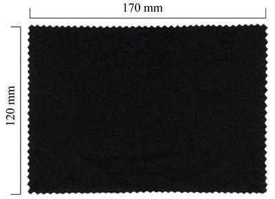 Hadřík na brýle z mikrovlákna jednobarevný - černý 120x170