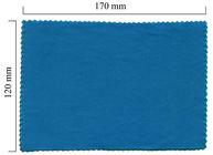 Hadřík na brýle z mikrovlákna jednobarevný - modrý 120x170
