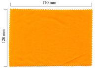 Hadřík na brýle z mikrovlákna jednobarevný - oranžový 120x170