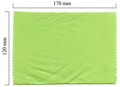Hadřík na brýle z mikrovlákna jednobarevný - zelený 120x170