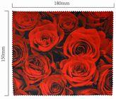 Hadřík na brýle z mikrovlákna- motiv růže