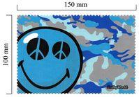 Hadřík na brýle z mikrovlákna Smiley - modré