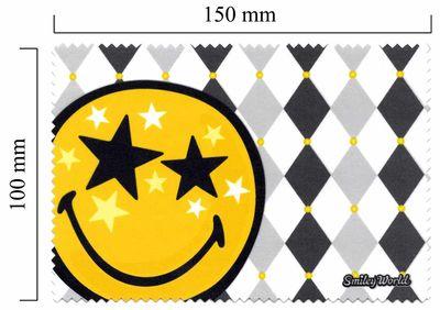 Hadřík na brýle z mikrovlákna Smiley - star
