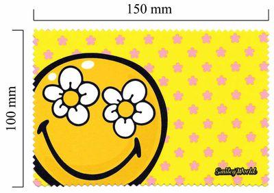 Hadřík na brýle z mikrovlákna Smiley - žlutý květ