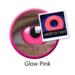 ColourVue Crazy čočky UV svítící - Glow Pink (2 ks roční) - nedioptrické